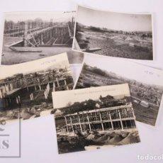 Fotografía antigua: 5 FOTOGRAFÍAS CONSTRUCCIÓN DE RESIDENCIA SANITARIA ONÉSIMO REDONDO, VALLADOLID - CARVAJAL, AÑOS 40. Lote 170937940