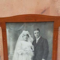 Fotografía antigua: FOTOGRAFIA FIRMADA S. MONTAÑA 1919 ,MARCO DE LA EPOCA. Lote 173119085