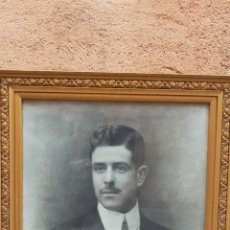 Fotografía antigua: FOTOGRAFIA FIRMADA S. MONTAÑA 1915 ,RETRATO HOMBRE. Lote 173120408