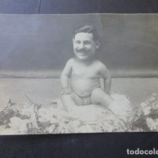 Fotografia antica: RETRATO DE HOMBRE EN CUERPO DE NIÑO FOTOMONTAJE HACIA 1915 HUMOR. Lote 175776285