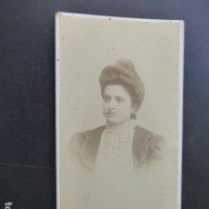 Fotografía antigua: LORCA MURCIA RETRATO DE MARIA SANCHEZ FAMILIA HOSPEDAJE ALBUMINA HACIA 1885 J. RODRIGO FOTOGRAFO. Lote 175912339