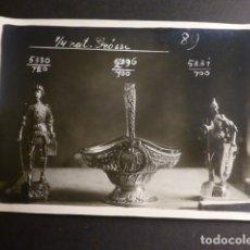 Fotografía antigua: FOTOGRAFIA OBJETOS PLATA AÑOS 40 MUESTRARIO JOYERIA AGRUÑA CALLE ZARAGOZA MADRID . Lote 175954970