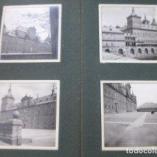 Fotografía antigua: ESCORIAL MADRID CONJUNTO 14 FOTOGRAFIAS POR VIAJERO FRANCES 1910 9 X 9 CMTS MONTADAS EN HOJAS ALBUM. Lote 176005245
