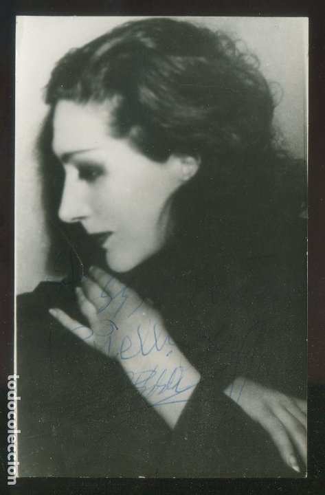 FOTO ANÓNIMA. AUTÓGRAFO *EUGENIA ZUFFOLI VILLADEMOROS (ROMA 1897 - MADRID 1982)* FECHADA 1961. (Fotografía Antigua - Gelatinobromuro)