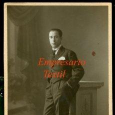 Fotografía antigua: EMPRESARIO TEXTIL - TERRASSA - FOTOGRAFIA VILATOBÁ - 1920 . Lote 176427322