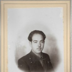 Fotografía antigua: FOTOGRAFÍA PERSONAJE DE ÉPOCA FOTOGRAFIA ORTIZ VALENCIA. Lote 177587577