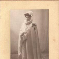 Fotografía antigua: CABALLERO DE LA ORDEN DEL SANTO SEPULCRO, 1915 APROX. FOTO: NAPOLEÓN, BARCELONA.. Lote 178594057