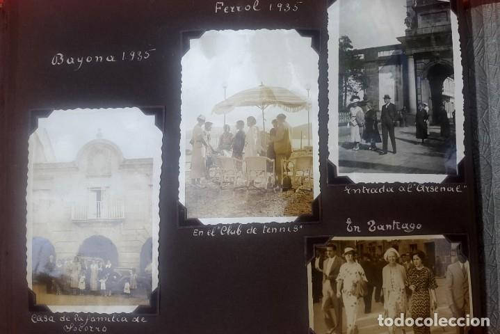ÁLBUM - 1935 - ARISTOCRACIA - LA CORUÑA, SANTIAGO, SANTANDER, BARCELONA, FERROL, BAYONA, COVADONGA.. (Fotografía Antigua - Gelatinobromuro)