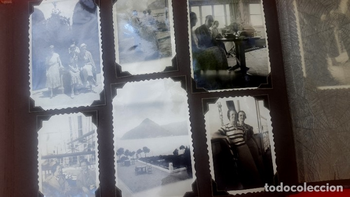 Fotografía antigua: ÁLBUM - 1935 - ARISTOCRACIA - La Coruña, Santiago, Santander, Barcelona, Ferrol, Bayona, Covadonga.. - Foto 3 - 178624336