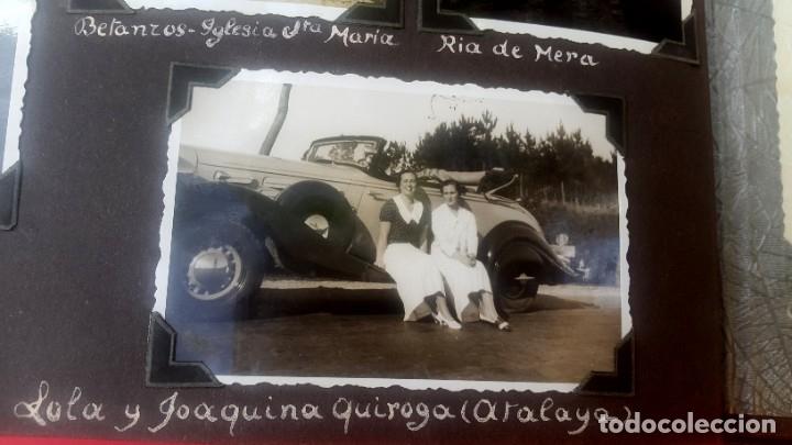 Fotografía antigua: ÁLBUM - 1935 - ARISTOCRACIA - La Coruña, Santiago, Santander, Barcelona, Ferrol, Bayona, Covadonga.. - Foto 4 - 178624336