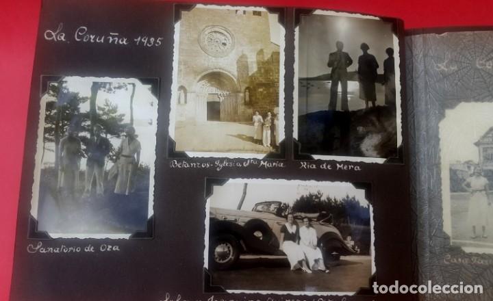 Fotografía antigua: ÁLBUM - 1935 - ARISTOCRACIA - La Coruña, Santiago, Santander, Barcelona, Ferrol, Bayona, Covadonga.. - Foto 6 - 178624336