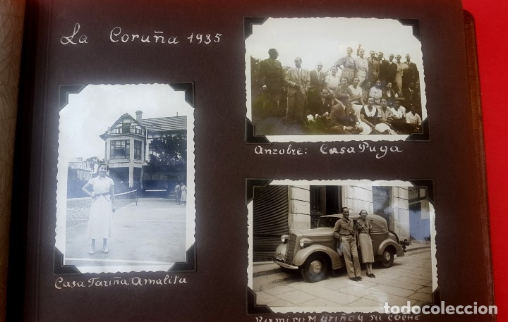 Fotografía antigua: ÁLBUM - 1935 - ARISTOCRACIA - La Coruña, Santiago, Santander, Barcelona, Ferrol, Bayona, Covadonga.. - Foto 7 - 178624336