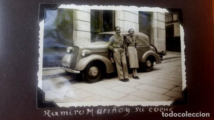 Fotografía antigua: ÁLBUM - 1935 - ARISTOCRACIA - La Coruña, Santiago, Santander, Barcelona, Ferrol, Bayona, Covadonga.. - Foto 8 - 178624336