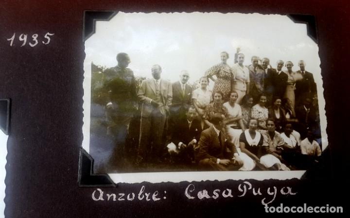 Fotografía antigua: ÁLBUM - 1935 - ARISTOCRACIA - La Coruña, Santiago, Santander, Barcelona, Ferrol, Bayona, Covadonga.. - Foto 9 - 178624336