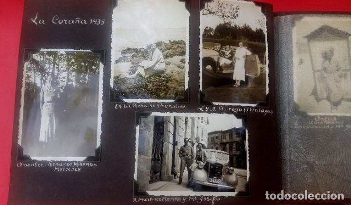 Fotografía antigua: ÁLBUM - 1935 - ARISTOCRACIA - La Coruña, Santiago, Santander, Barcelona, Ferrol, Bayona, Covadonga.. - Foto 11 - 178624336
