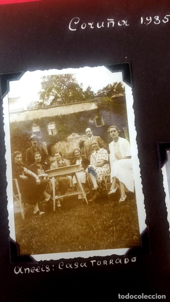 Fotografía antigua: ÁLBUM - 1935 - ARISTOCRACIA - La Coruña, Santiago, Santander, Barcelona, Ferrol, Bayona, Covadonga.. - Foto 12 - 178624336