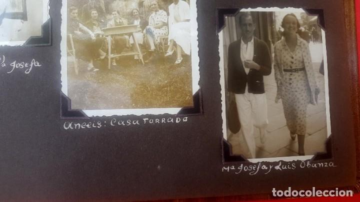 Fotografía antigua: ÁLBUM - 1935 - ARISTOCRACIA - La Coruña, Santiago, Santander, Barcelona, Ferrol, Bayona, Covadonga.. - Foto 13 - 178624336
