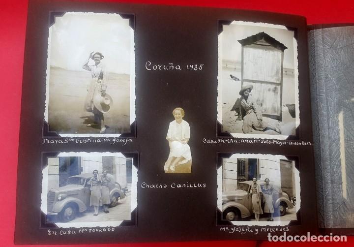 Fotografía antigua: ÁLBUM - 1935 - ARISTOCRACIA - La Coruña, Santiago, Santander, Barcelona, Ferrol, Bayona, Covadonga.. - Foto 14 - 178624336