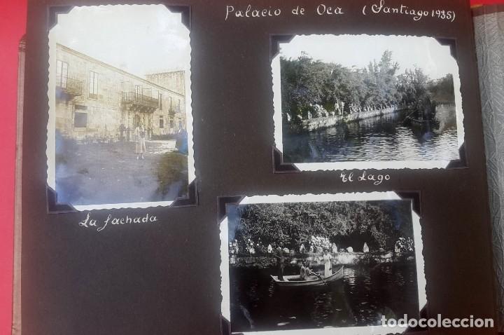 Fotografía antigua: ÁLBUM - 1935 - ARISTOCRACIA - La Coruña, Santiago, Santander, Barcelona, Ferrol, Bayona, Covadonga.. - Foto 15 - 178624336