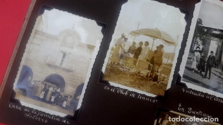 Fotografía antigua: ÁLBUM - 1935 - ARISTOCRACIA - La Coruña, Santiago, Santander, Barcelona, Ferrol, Bayona, Covadonga.. - Foto 16 - 178624336