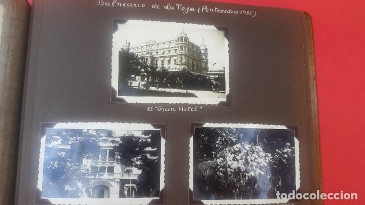 Fotografía antigua: ÁLBUM - 1935 - ARISTOCRACIA - La Coruña, Santiago, Santander, Barcelona, Ferrol, Bayona, Covadonga.. - Foto 17 - 178624336
