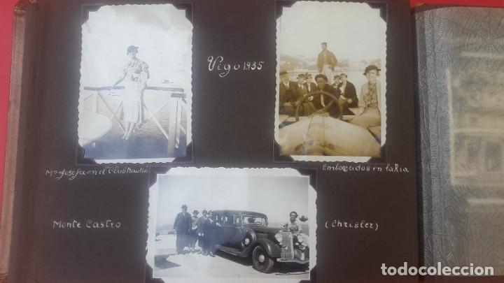 Fotografía antigua: ÁLBUM - 1935 - ARISTOCRACIA - La Coruña, Santiago, Santander, Barcelona, Ferrol, Bayona, Covadonga.. - Foto 18 - 178624336