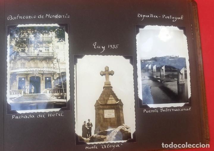 Fotografía antigua: ÁLBUM - 1935 - ARISTOCRACIA - La Coruña, Santiago, Santander, Barcelona, Ferrol, Bayona, Covadonga.. - Foto 19 - 178624336