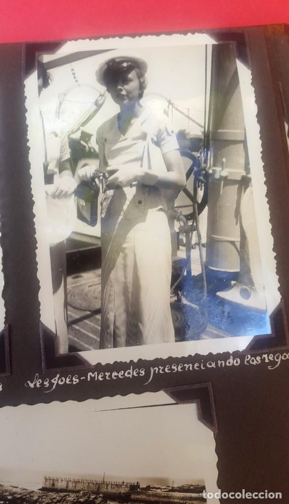Fotografía antigua: ÁLBUM - 1935 - ARISTOCRACIA - La Coruña, Santiago, Santander, Barcelona, Ferrol, Bayona, Covadonga.. - Foto 21 - 178624336