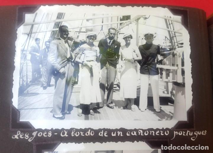 Fotografía antigua: ÁLBUM - 1935 - ARISTOCRACIA - La Coruña, Santiago, Santander, Barcelona, Ferrol, Bayona, Covadonga.. - Foto 22 - 178624336