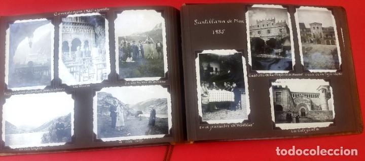 Fotografía antigua: ÁLBUM - 1935 - ARISTOCRACIA - La Coruña, Santiago, Santander, Barcelona, Ferrol, Bayona, Covadonga.. - Foto 24 - 178624336