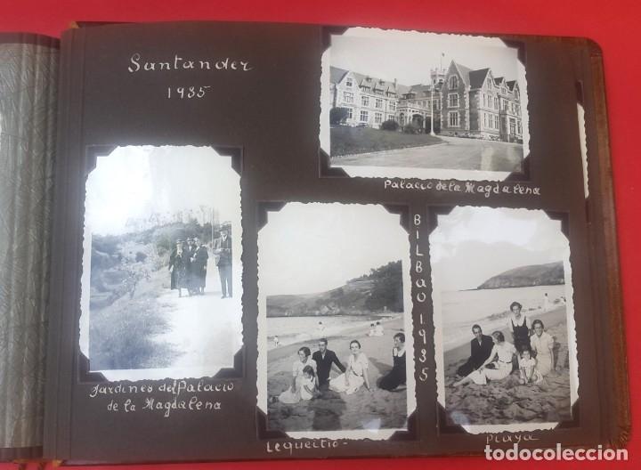 Fotografía antigua: ÁLBUM - 1935 - ARISTOCRACIA - La Coruña, Santiago, Santander, Barcelona, Ferrol, Bayona, Covadonga.. - Foto 27 - 178624336