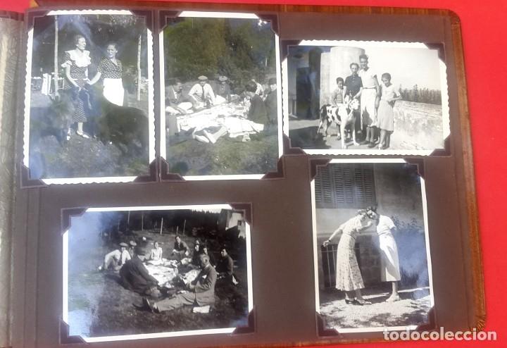 Fotografía antigua: ÁLBUM - 1935 - ARISTOCRACIA - La Coruña, Santiago, Santander, Barcelona, Ferrol, Bayona, Covadonga.. - Foto 28 - 178624336