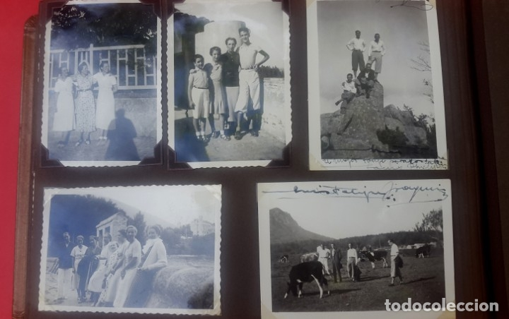 Fotografía antigua: ÁLBUM - 1935 - ARISTOCRACIA - La Coruña, Santiago, Santander, Barcelona, Ferrol, Bayona, Covadonga.. - Foto 29 - 178624336