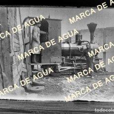 Fotografía antigua: ANTIGUO NEGATIVO CRISTAL LOCOMOTORA VAPOR PRINCIPIOS SIGLO XX. Lote 178637136
