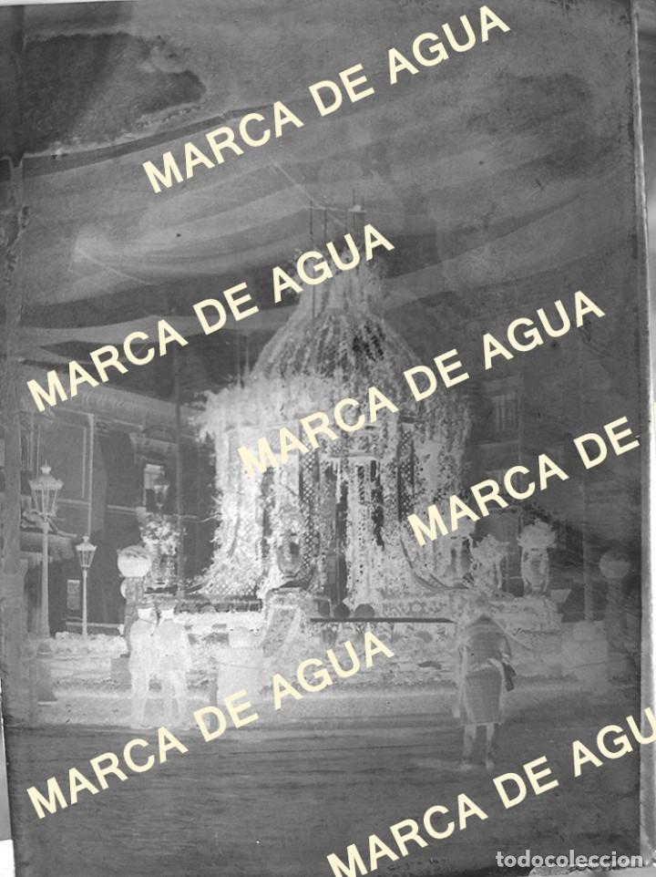 Fotografía antigua: antiguo negativo cristal corpus Valencia plaza la Virgen principios siglo XX - Foto 2 - 178637196