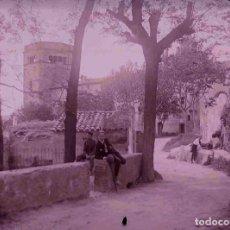 Fotografía antigua: BADALONA. SANT JERONI DE LA MUTRA. CURIOSA VISTA. C. 1925. Lote 179023568