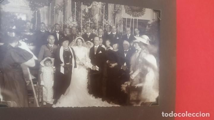 Fotografía antigua: ÁLBUM - 1935 - ARISTOCRACIA - La Coruña, Santiago, Santander, Barcelona, Ferrol, Bayona, Covadonga.. - Foto 30 - 178624336