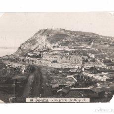 Fotografía antigua: BARCELONA, VISTA GENERAL DE MONTJUICH 20X14,5 CM.. Lote 179315330