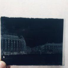 Fotografía antigua: FOTOGRAFIA NEGATIVO VIDRIO VISTA MADRID PLAZA NEPTUNO CASTELLANA HOTEL PALACE FIN S XIX PPIO S XX 12. Lote 179393801