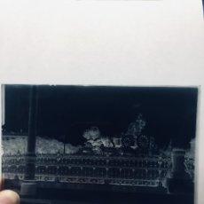 Fotografía antigua: FOTOGRAFIA NEGATIVO VIDRIO MADRID CIBELES PXIX PP S XX GLORIETA CON REJAS. Lote 180026265