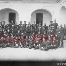 Fotografía antigua: REGIMIENTO DE INFANTERÍA INMEMORIAL DEL REY Nº1 - 1918 - NEGATIVO DE CRISTAL - FOTOGRAFIA ANTIGUA. Lote 180191655