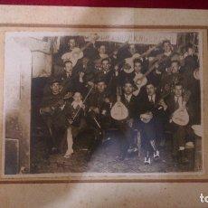 Fotografía antigua: AB-656.- FOTOGRAFIA DE-- JUVENTUD ARAGONESA, BANDA DE MUSICA DE MILITARES Y PAISANOS , MED 22 X 17 . Lote 181209343
