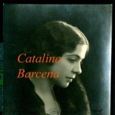Fotografía antigua: CATALINA BARCENA - ACTRIZ - FIRMADA Y DEDICADA - 1920'S. Lote 182423306
