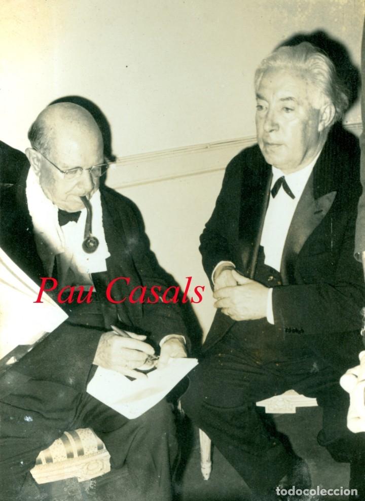 PAU CASALS - TOULOUSE - 1962 (Fotografía Antigua - Gelatinobromuro)