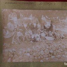 Fotografía antigua: AB-710.- FOTOGRAFIA ANTIGUA DE EXCURSION ACAMPADA DE AUTOMOVILISTAS , MED. 20 X 14,3 LUGAR ?????. Lote 182793010