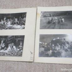 Fotografía antigua: LOTE 4 FOTOS PÉREZ DE ROZAS DE LA VISITA DEL CONDE CIANO A BARCELONA 1939 CON SERRANO SUÑER, ORGAZ. Lote 182939360