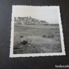 Fotografía antigua: BENIDORM ALICANTE VISTA Y PLAYA ANTIGUA FOTOGRAFIA AÑOS 30 . Lote 183697241