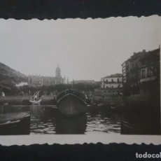 Fotografía antigua: LEQUEITIO VIZCAYA PUERTO 1946 FOTOGRAFIA ANTIGUA 4,5 X 7 CMTS. Lote 183800686