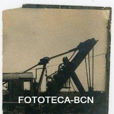 Fotografía antigua: FOTO ORIGINAL MAQUINARIA DE OBRAS PUBLICAS POSIBLEMENTE ESPAÑA AÑOS 20/30. Lote 184335956