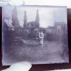 Fotografía antigua: DOS PLACAS DE GELATINO BROMURO EN NEGATIVO BIARRITZ ANO 1900. Lote 187079625